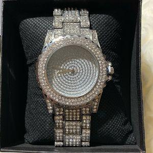 Accessories - Rhinestone Encrusted Fashion Watch
